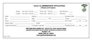 GS ABATE Membership Application